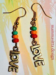 Love Rasta Earrings by mammasitta on Etsy, $8.50