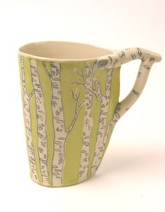 LOVE this mug - comes in red, too! .....from JosiesPotShop on Etsy