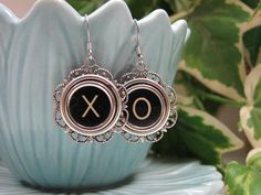 Upcycled Typewriter Key Jewelry  Hugs and Kisses by thekeyofa, $30.00