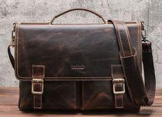 RIAZA BARNA VALÓDI BŐR VÁLLTÁSKA Laptop Brands, Laptop Messenger Bags, Briefcase For Men, Bank Card, Crazy Horse, Famous Brands, Luggage Bags, Travel Bags, Leather Bag