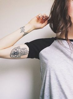 Birds on wrist, hamsa on inside upper bicep... I like this placement ~ Cassandra…