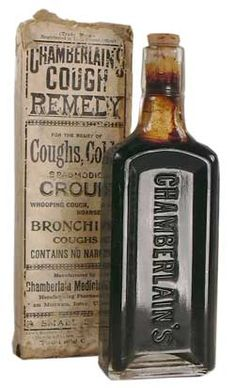 Chamberlain's Cough Remedy Glass  :: visit us at http://www.ocean-grove-nj.com