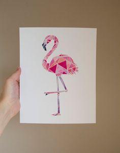Items similar to Geometric Flamingo PRINT / Flamingo Wall Art / Geometric Art / Geometric Print / Geometric Wall Art / Flamingo Decor / Flamingo Art Print on Etsy Geometric Drawing, Geometric Wall Art, Abstract Drawings, Art Drawings Sketches, Easy Drawings, Flower Pattern Drawing, Polygon Art, Flamingo Art, Bee Art