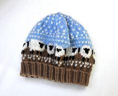Mützen - Kindermütze Merino gestrickt mit Schafmotiv - ein Designerstück von Idee-Kreativ bei DaWanda Minis, Knitted Hats, Baby, Beanie, Knitting, Fashion, Sheep, Wool, Round Round