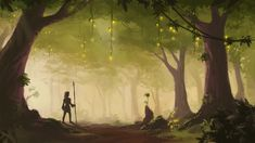 Forest Concept Art 2 by Alrynnas.deviantart.com on @deviantART