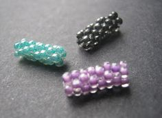 Peyote Stitch Beaded Beads (seed bead tube tutorial)