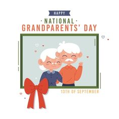 National Grandparents Day, Happy Grandparents Day, Vector Free, Family Guy, Fictional Characters, Fantasy Characters, Griffins