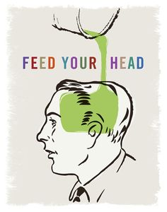 Feed Your Head 11x14 Print Poster by HappyLittleGarden on Etsy, $18.00
