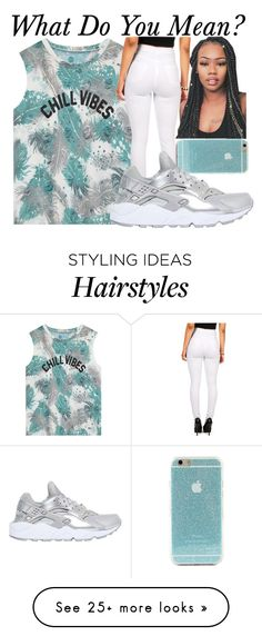 """Mean--"" by be-you-tiful-flower on Polyvore featuring NIKE"