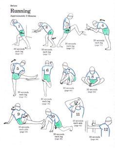 estiramientos para antes y después de correr