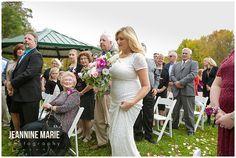 Fall Wedding Backyard Minnesota
