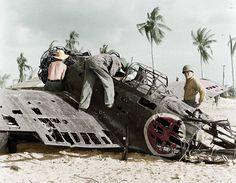 A6M wreck. #Tarawa airfield boneyard