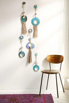 Cathy Callahan X Mt. Washington Pottery Ceramic + Fiber Wall Hanging