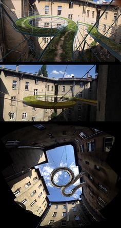 A Suspended Walkway Between Buildings By Zalewski Architecture Group.
