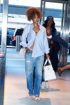 Fluffy shoes for Rihanna. Click on the image to read more.