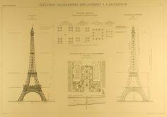 Eiffel Tower Blueprints