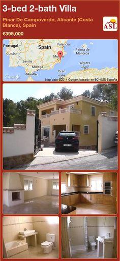 3-bed 2-bath Villa in Pinar De Campoverde, Alicante (Costa Blanca), Spain ►€395,000 #PropertyForSaleInSpain