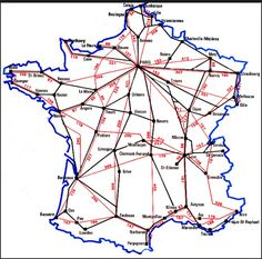 Here is another train route through France. It's very useful because it also shows the distances. This is a website that will help explain your train route. www.bonjourlafrance.com/france.../map_france_train_distance-cities.htm