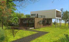 Maison container - Plan de maison Moderne par Archionline