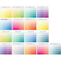 paint chip calendar 2
