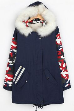 Must-have Camouflage Hooded Coat OASAP.com
