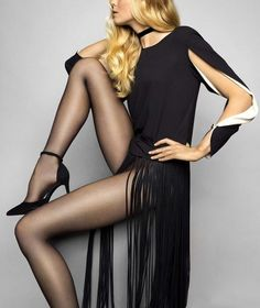 4fc7374b974 Le Bourget Heritage Collant Luxe 10 Denier Sheer To Waist Matte Nanofiber  Tights