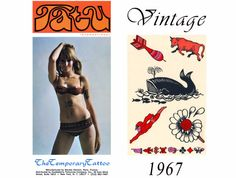 Temporary Tattoos ~ Whale Tattoo ~ 13 Authentic Vintage Tattoos