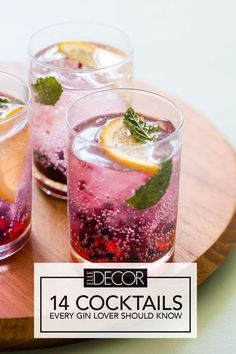 14 Cocktails Every Gin Lover Should Know #gincocktails