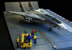 """""""F-14A Tomcat & Deck Crew"""" by crash_cramer: Pimped from Flickr"""
