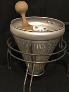 Strainer Sieve with Stand and Pestal Antique