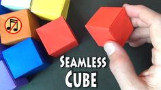 How to fold a cube that does not have any creases or folds on any of the faces. This is my version of the classic cube from a 4X4 grid which was independentl...