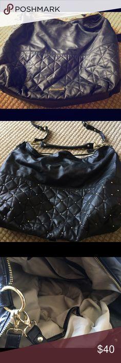 Steve Madden black leather hobo bag. Steve Madden black leather oversized hobo bag. Literally used once. Bought from Sak's. Steve Madden Bags Hobos