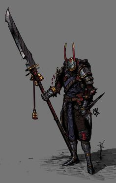 Vantra, the Third Sword Saint, Gerard Kalashnikoff Fantasy Character Design, Character Design Inspiration, Character Concept, Character Art, Dungeons And Dragons Characters, Dnd Characters, Fantasy Characters, Fantasy Armor, Dark Fantasy
