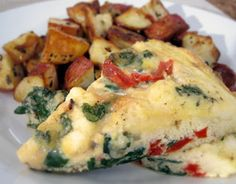 Red Pepper, Chard and Feta Frittata: Frittatas are an easy, vegetarian meal and a great way to transform eggs, a breakfast favorite, into a more substantial lunch or dinner entree. The chard and red pepper are a nutrient-dense pair that deliver an impressive array of vitamins and minerals.