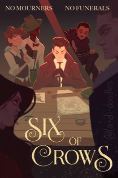 I know there's a Shadow and Bone Netflix series coming out, but may I propose a Six of Crows animated movie? Crow Movie, Character Art, Character Design, Fanart, The Grisha Trilogy, Crow Art, Six Of Crows, Book Aesthetic, Book Nerd