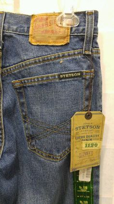 5c655685 Stetson Jeans Size 27 x 38 Straight Leg Slim Fit Tall Cowboy Dungarees