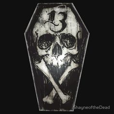 Lucky 13 skull and cross bones