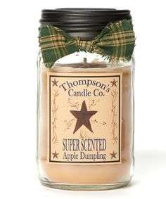 Look what I found on #zulily! Apple Dumpling Mason Jar Candle #zulilyfinds