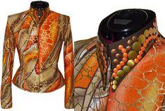 Rich Chocolate Orange Shirt  Limited Edition! #CustomShowClothing #WesternShowClothing #LisaNelle