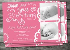 Fabulous way to show off your new baby girl!