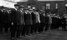 """Some of the thousands of men who volunteered for the """"Pals"""" battalions of the East Yorkshire Regiment in Hull. Kingston Upon Hull, East Yorkshire, British Army, Newfoundland, World War I, Volunteers, Wwi, First World, Period"""