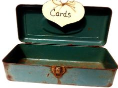 Vintage wedding card box fishing box by ButterBeanVintage on Etsy
