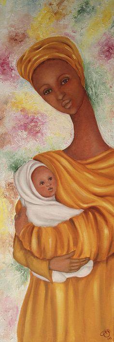 African Mother And Child Art ~ Simona Mereu