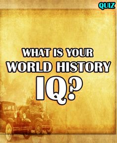 I Got Genius Level IQ!!! Well done! You answered enough of these questions correctly to be considered a true World History Genius! From the assassination of Julius Caesar, to World War II, to the Khmer Rouge, and the Magna Carta, you have an elite understanding and knowledge of world history! It is hard to capture all of world history in a 14-question quiz, but we like to think we hit on subjects and history from around the world. Most people really struggle with this quiz as it takes a…