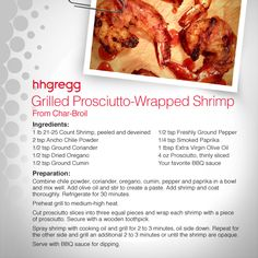 Put #seafood on the menu this weekend with this delicious Grilled Prosciutto-Wrapped Shrimp recipe, brought to you by Char-Broil! #FoodieFriday