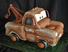 This Wonderful Tow Mater Cake Was Made By Custom Cakes Susan The Tow Mater Cake, Fondant Flower Cake, Fondant Bow, Fondant Tutorial, Fondant Cakes, Truck Cakes, Car Cakes, Movie Cakes, Disney Cars Party