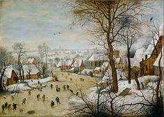 1565 Fichier: Pieter Brueghel, le Jeune - Paysage d'hiver avec piège d'oiseau - Google Art project.jpg