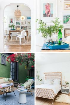 beachy-meets-boho home