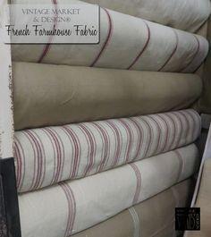 French Farmhouse Fabric (12 styles!) , Farmhouse Decor - Vintage Market And Design, Vintage Market And Design  - 1