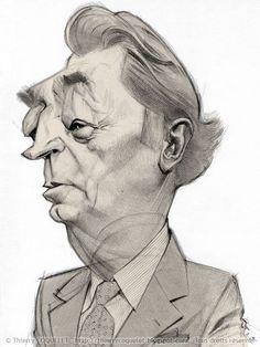 Robert Mitchum - Ballpoint pen by Thierry Coquelet